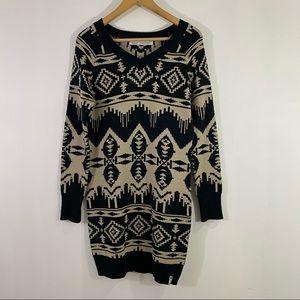 Woolrich Women Dew Berry Sweater Dress Blanket Aztec Print Size Small